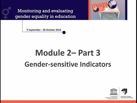 Module 2 Part 3 Gender Sensitive Indicators
