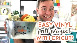 EASY VINYL FALL PROJECT WITH CRICUT!