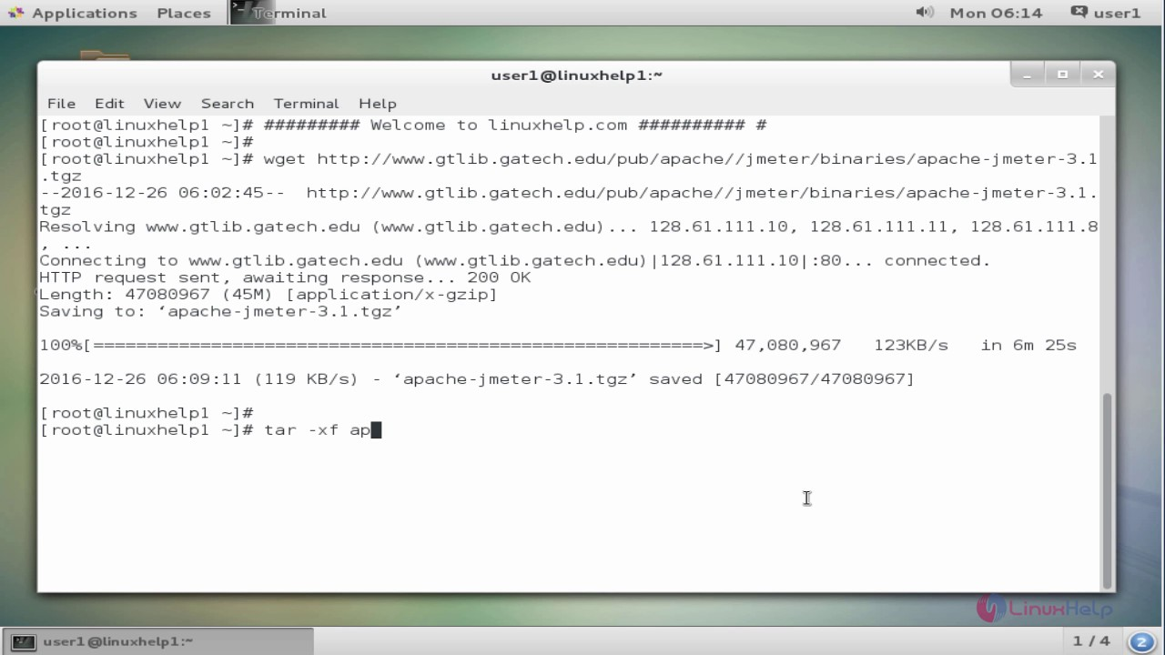How to install Apache JMeter in CentOS 7 | LinuxHelp Tutorials