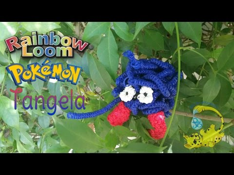 Rainbow Loom 3D Tangela Pokemon (покемон, モンジャラ, Saquedeneu, टांगेला)