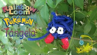 Rainbow Loom 3D Tangela Pokemon (покемон, モンジャラ, Saquedeneu, टांगेला)