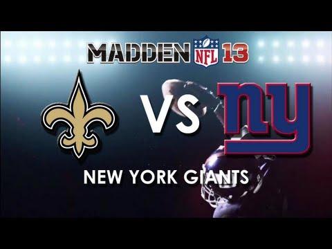 MADDEN 13: New Orleans Saints Vs. New York Giants
