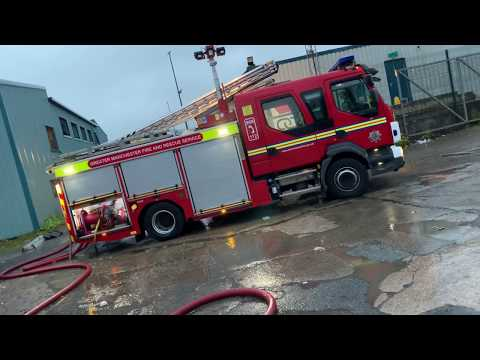 *On Scene Footage* Warehouse Fire - Greater Manchester Fire And Rescue Service