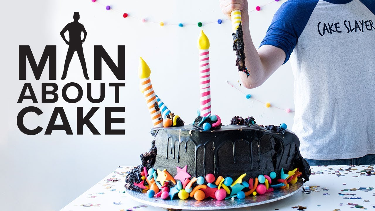 giant birthday cake man