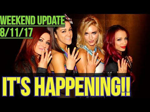 Sasha, Becky, Bayley & Charlotte VS Ronda Rousey & Her Gals! It's Happening!!
