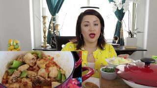 POLLO CON PAPAS MUKBANG CHICKEN AND POTATOES | MEXICAN FOOD RECIPE