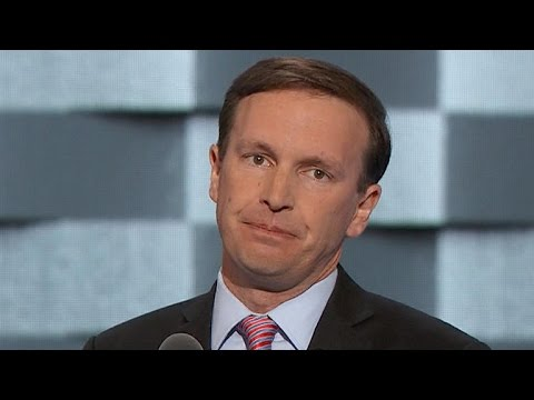 Sen. Chris Murphy speaks at the DNC