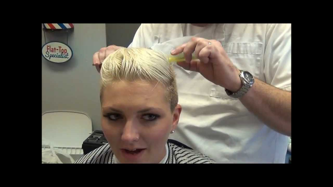 Miley Cyrus Inspired Womans Disconnected Haircut Barber