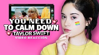 CRISTIANA REACCIONA a Taylor Swift - Need To Calm Down Video