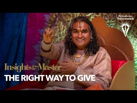 The Right Way to Give | Insights from the Master