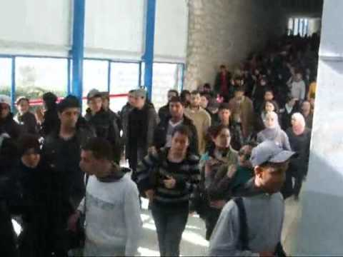 ENIT - CAMPUS universitaire 10-01-2011 Tunisie sidi bouzid