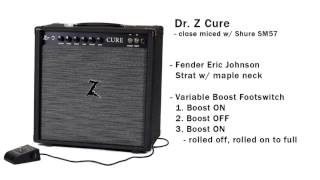 Dr. Z Cure - Variable Boost demo with Fender Stratocaster