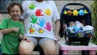 LEARN COLORS BODY PAINT FINGER FAMILY NURSERY RHYMES LEARNING KIDS VÍDEO