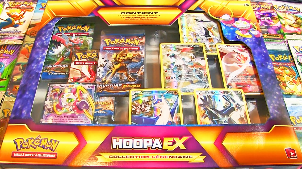 Ouverture du coffret pok mon hoopa ex fr une collection - Pokemon legendaire pokemon y ...
