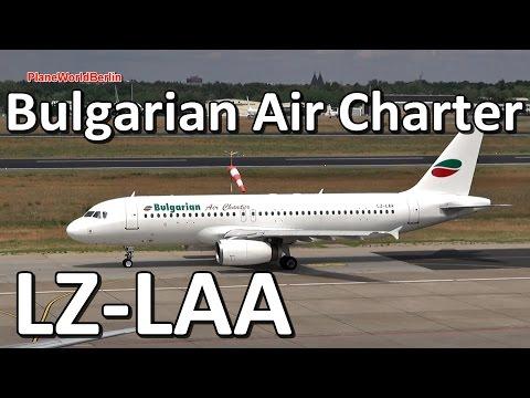 Bulgarian Air Charter Airbus A320 takeoff from Berlin TXL