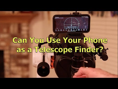 Can you use an iPhone as a telescope finder?