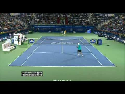 Somdev Devvarman awesome smash against Federer
