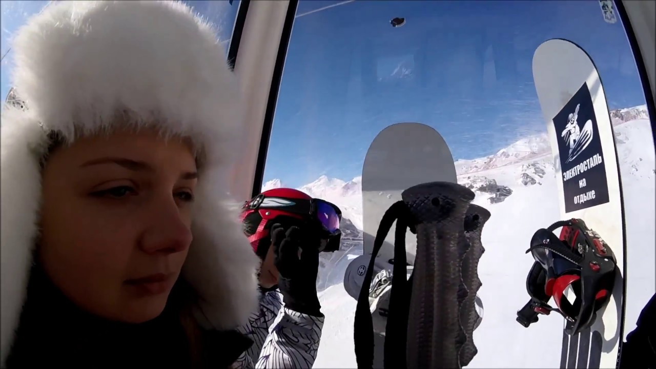Эльбрус.Обзор.Экскурсия по Эльбрусу.Спуск с Гарабаши,поляна Азау,гора Чегет