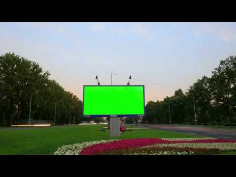 Pack 25 Billboard With Green Screen Streets