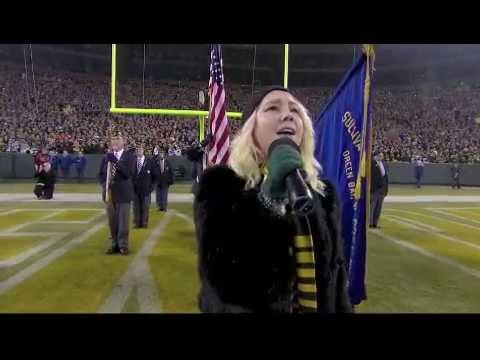 RaeLynn sings the National Anthem on Monday Night Football