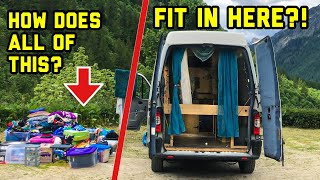 Solo female vanlife: What's in my van? FULL CONTENTS TOUR