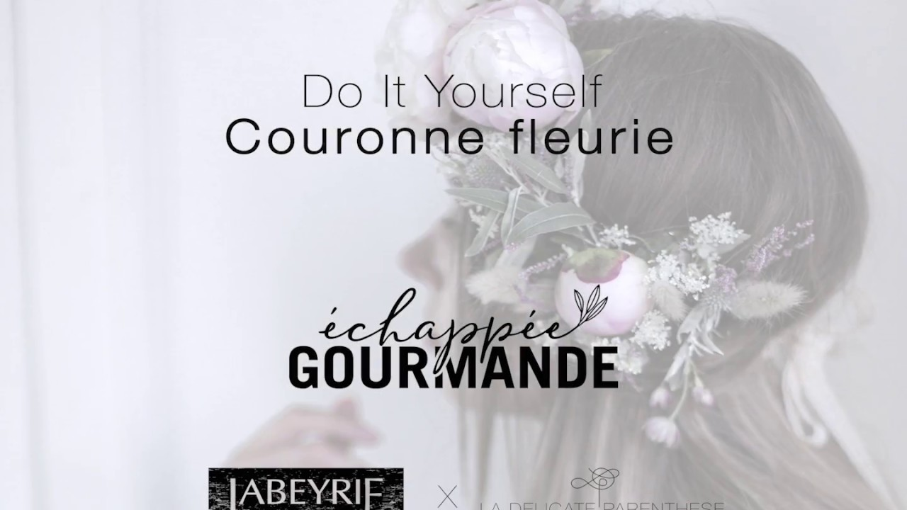 diy couronne de fleurs par labeyrie x la d licate. Black Bedroom Furniture Sets. Home Design Ideas