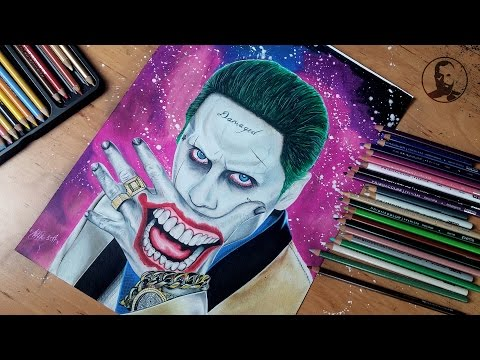 Joker Suicide Squad / Jared Leto / - realistic - speed drawing - timelapse - speedart
