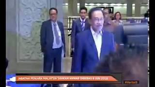 Jabatan Penjara Malaysia sahkan Anwar Ibrahim dibebas 8 Jun 2018