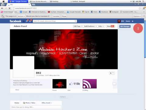 B92 Fanpage in Facebook Hacked By Albanian Hackers Zone