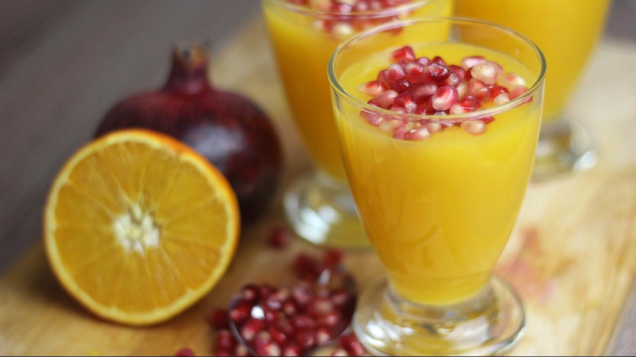orangen gelee mit granatapfel fruchtiges dessert f r valentinstag oder als nachtisch vegan. Black Bedroom Furniture Sets. Home Design Ideas