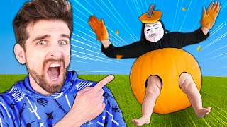 HACKER BOSS Scavenger Hunt but it gets WEIRD! Pumpkin Hide and Seek Challenge Among Us Friends!