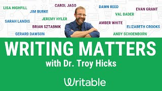 Writing Matters with Dr. Troy Hicks: Season 1