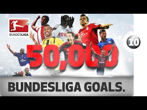 50,000th Goal - 10 Goals That Made Bundesliga History - YouTube