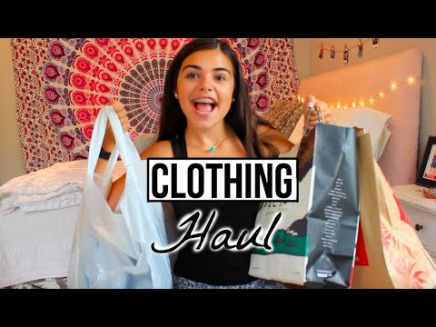 BACK TO SCHOOL CLOTHING HAUL    TRY ON