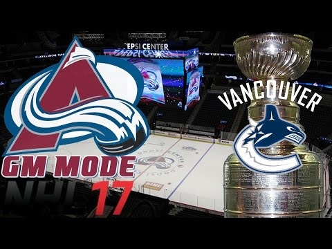 Western Conference FINAL Vancouver - NHL 17 - GM Mode Commentary - Colorado ep. 22
