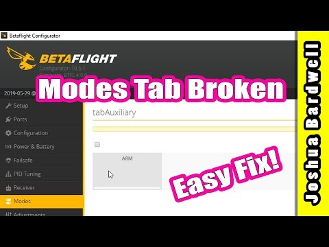 Betaflight Modes Tab Not Working Tabauxiliary | MOBULA 7 EMAX BUZZ AND OTHERS