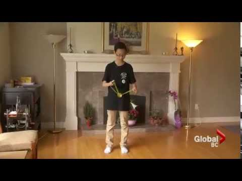 Harrison Lee on Global BC: Yo yo prodigy Harrison Lee unveils his newest creation - The Orca!