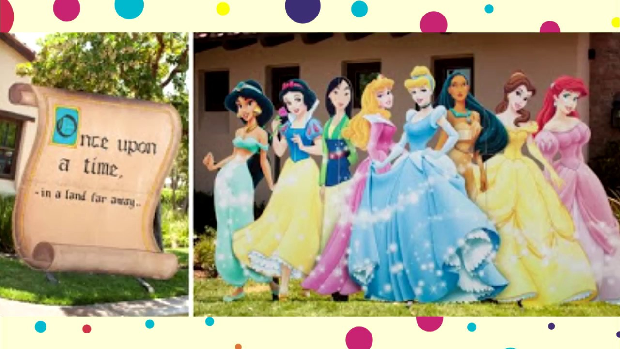 Decoraci n de princesas disney fiestas infantiles youtube - Decoraciones para la pared ...