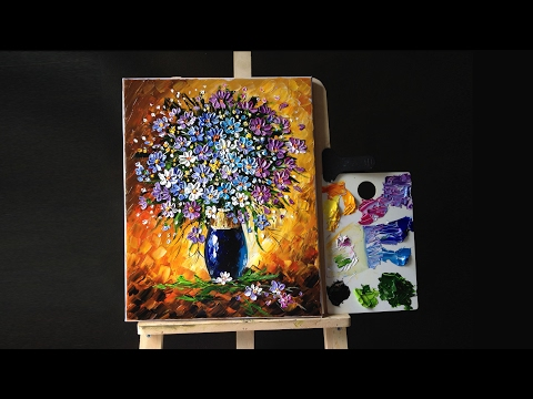 Flowers in a Vase Palette knife (Acrylic)