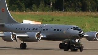 """видео: RC Ту-70 размах 4,3 метра """"Большие гуси - 2""""  ( airplane Tu-70)"""