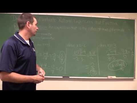 Define and Evaluate Rational Expressions & Functions