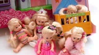 Мультик про ЛЯЛЬОК для ДІВЧАТОК.Розпакування 6 принцес.Годуємо дитину Лілі