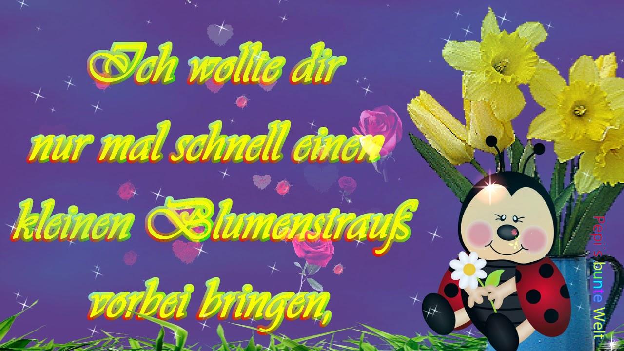 Hallöööchenein Blumenstrauß Für Dichverbunden Mit Lieben Grüßenwünsche Einen Schönen Tag