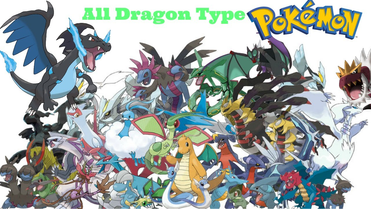 All Dragon Type Pokemon Includes Mega Evolution