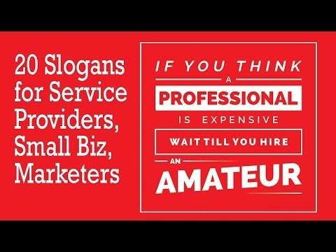 20 Slogans for Service Providers (+40 Punchlines, Taglines) | Wajeez