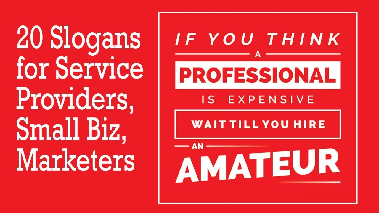 20 Slogans for Service Providers (+40 Punchlines, Taglines) | Wajeez