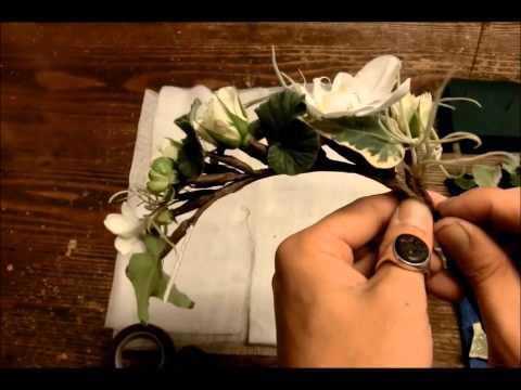 Флористика мастер класс: свадебный или праздничный венок из цветов своими руками (уроки флористики).