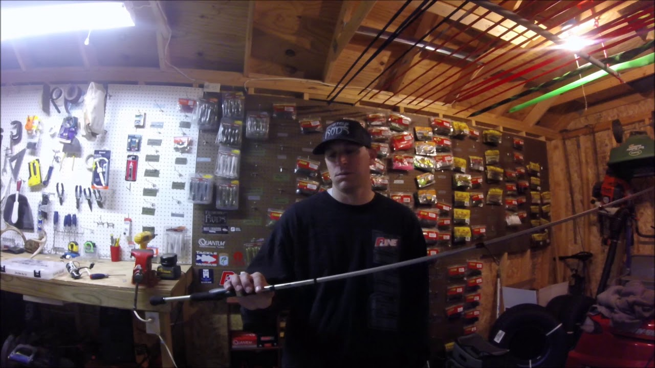 b259012f09d6 Fitzgerald Rods 7ft 2in MH Vursa Spinning Rod - YouTube