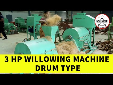 3 HP willowing Machine Drum Type By Kerala State Coir Machinery Manufacturing Company (KSCMMC)