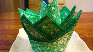 Как красиво и быстро сложить салфетки для сервировки праздничного стола